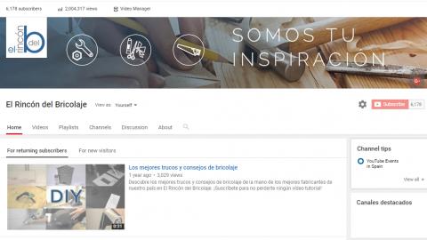 """El Canal de Youtube de AFEB, """"El Rincón del Bricolaje"""", supera los 2 millones de reproducciones"""